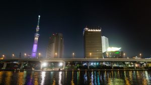 Sumida River Skyline at Night